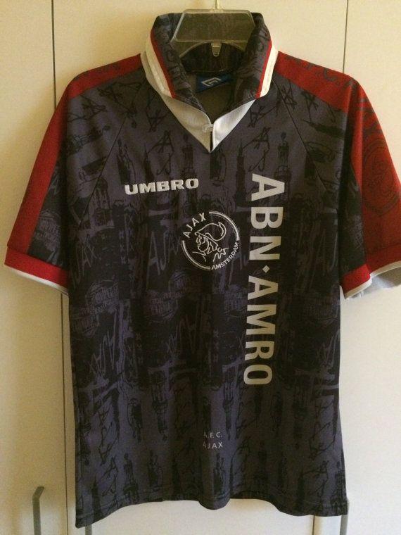 Vintage 90 s Ajax Amsterdam Soccer Jersey Retro AFC Holland Football ... 5e749ba5b