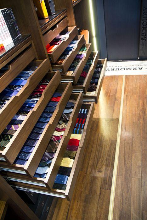 Tie and Sock display  tradeshow booth ideas  Closet Walk in Closet Master Closet