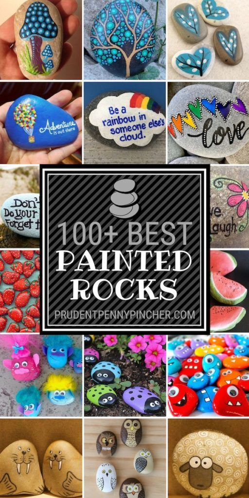 100 Best Painted Rocks is part of Rock painting tutorial, Painted rocks kids, Rock painting patterns, Cool paintings, Painted rocks, Rock painting ideas easy - The painted rocks phenomenon is a familyfriendly activity that is fun, cheap and a great way to keep the kids entertained over summer break