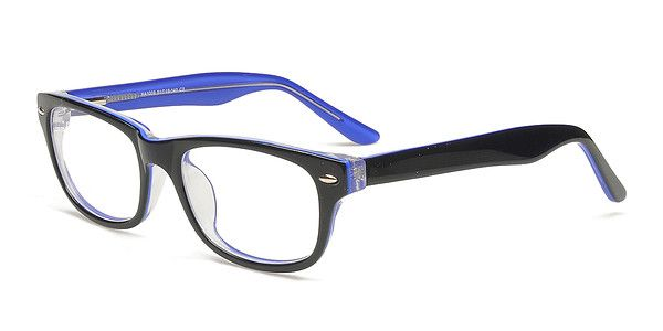 Zip Glasses Frame : Fashion Glasses-HA1009 Black and royal blue combo for a ...
