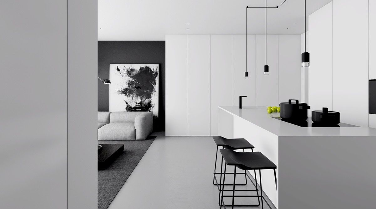 Best 4 Monochrome Minimalist Spaces Creating Black And White 640 x 480