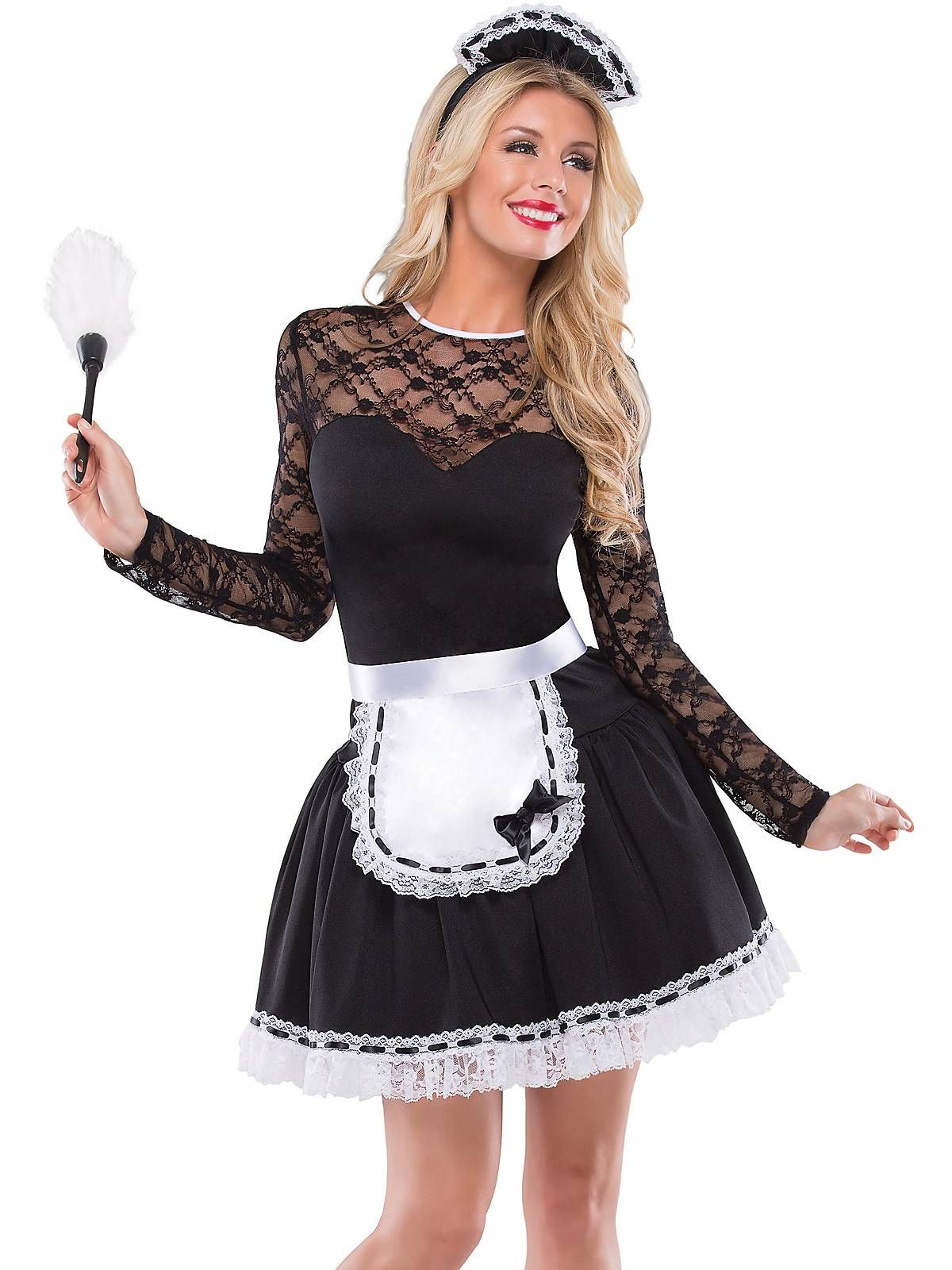 1b2803f759b Sexy French Maid Adult Costume | Halloween | French maid costume ...