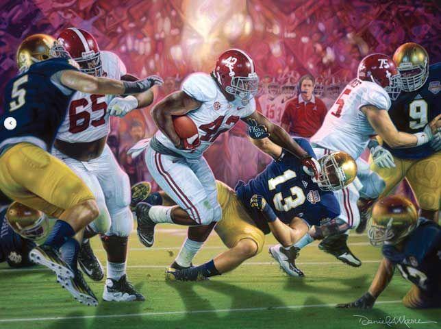 Alabama National Championship all 3 of Daniel Moore/'s 2011 season framed prints