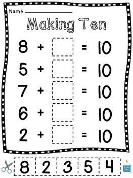 Pin On Teach Kindergarten math worksheets making 10
