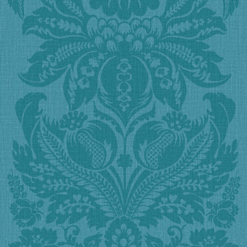 For back of bookcase in dining room Turquoise wallpaper