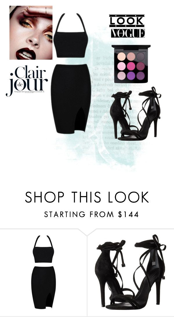 """""""LOOK VOGUE"""" by nurinur ❤ liked on Polyvore featuring Schutz and MAC Cosmetics"""