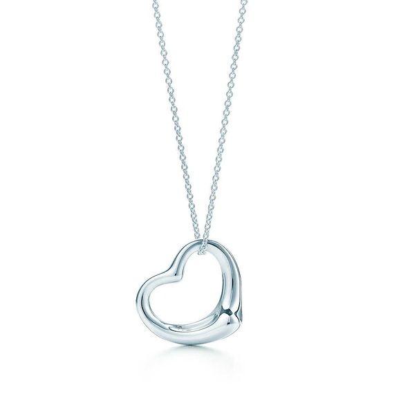 Tiffany elsa peretti open heart necklace tiffany elsa peretti open heart necklace this is 24 in length the heart is aloadofball Images