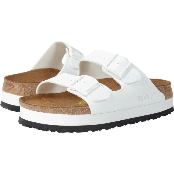 54d1779118ee Birkenstock Arizona Platform (White Birko-Flor ) Women s Sandals ( 100) ❤  liked