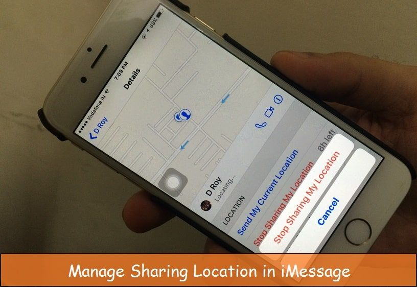 How to disablestop location share on imessage in iphone