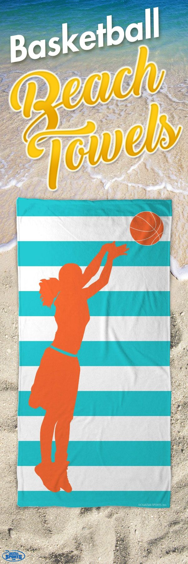 Have Fun At The Beach All Summer With This Cute Basketball Towel Gifts Pinterest