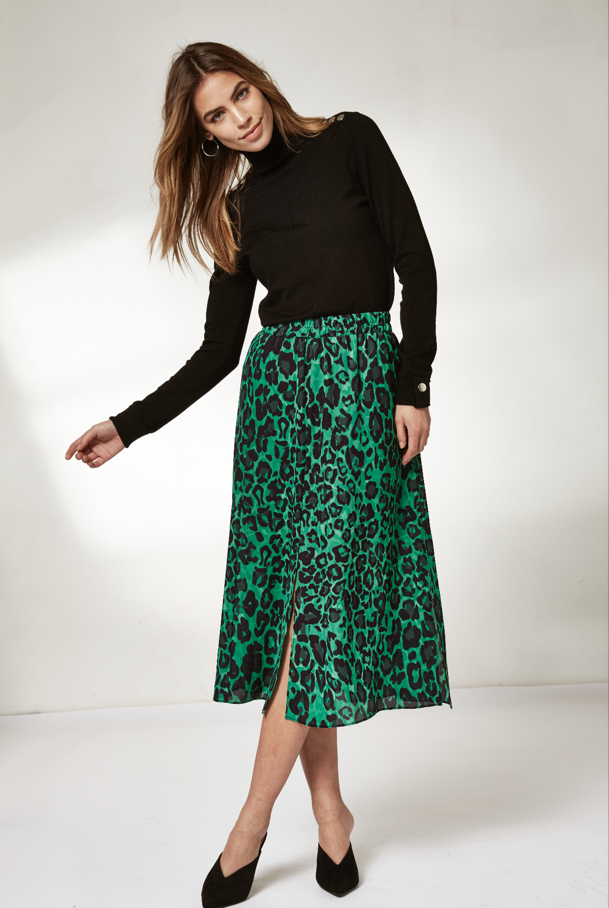 b7d5e338b5 A new year of style | Refresh your wardrobe for 2019 with the latest animal  print midi skirts| Wallis | Click to shop #WallisFashion #WallisLoves ...