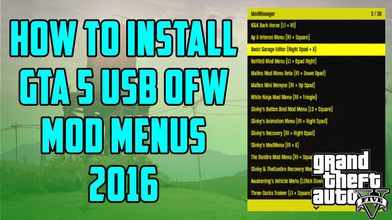 gta v mod menu download ps3 no jailbreak