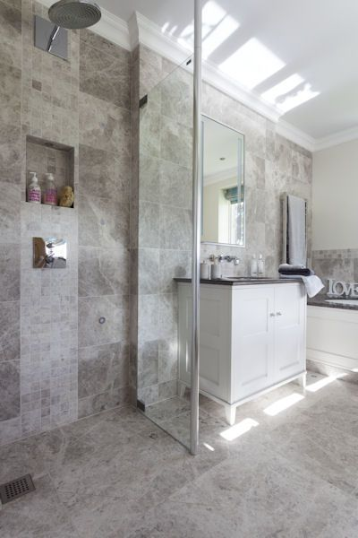 Grey Marble Bathroom Ideas : Tundra grey marble bathroom