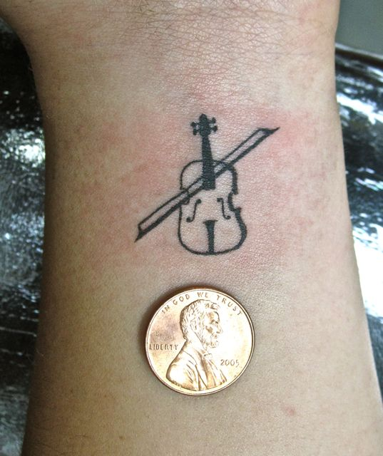 Tiny Violin Violin Tattoo Tattoos Music Tattoos
