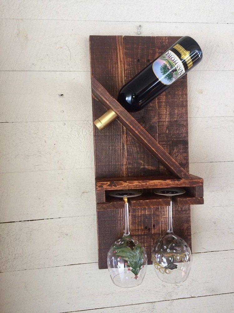 Wooden Pallet Wine Rack Plans Pale Para Vino Estantes De Vino