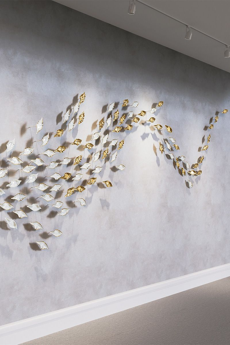 Leaf Is Now Available As A Wall Mounted Bespoke System Leaf Eddy Haberdasheryltd 3d Wall Art Ceramic Wall Art Wall Sculptures