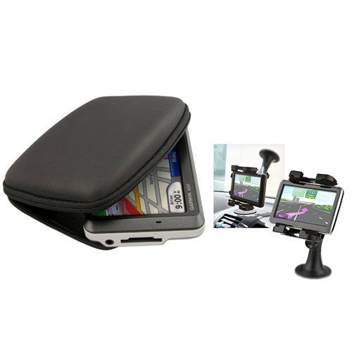 eForCity Case+Mount Compatible with Garmin Nuvi 4 3