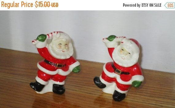 SALE TIME Made in Japan Santa salt and pepper shakers by betsstuff