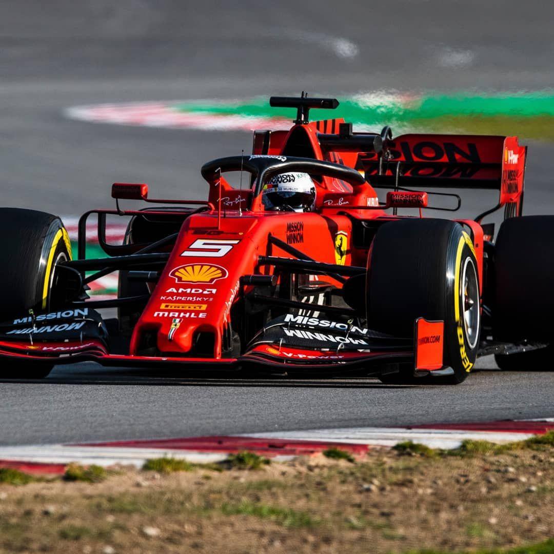 2019 F1 Testing Circuit De Catalunya 5 Sebastian Vettel