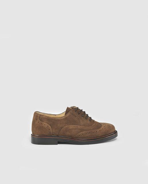 Zapatos de cordones de niño Thousand de color marrón claro con ...