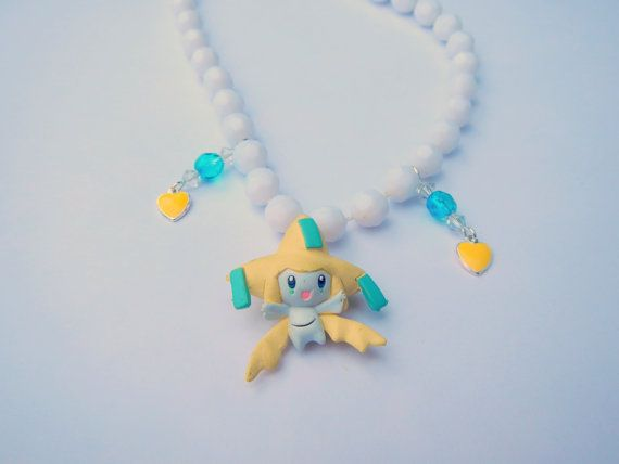 Super Kawaii Jirachi Pokemon Necklace Jewelry by RainbowCastle