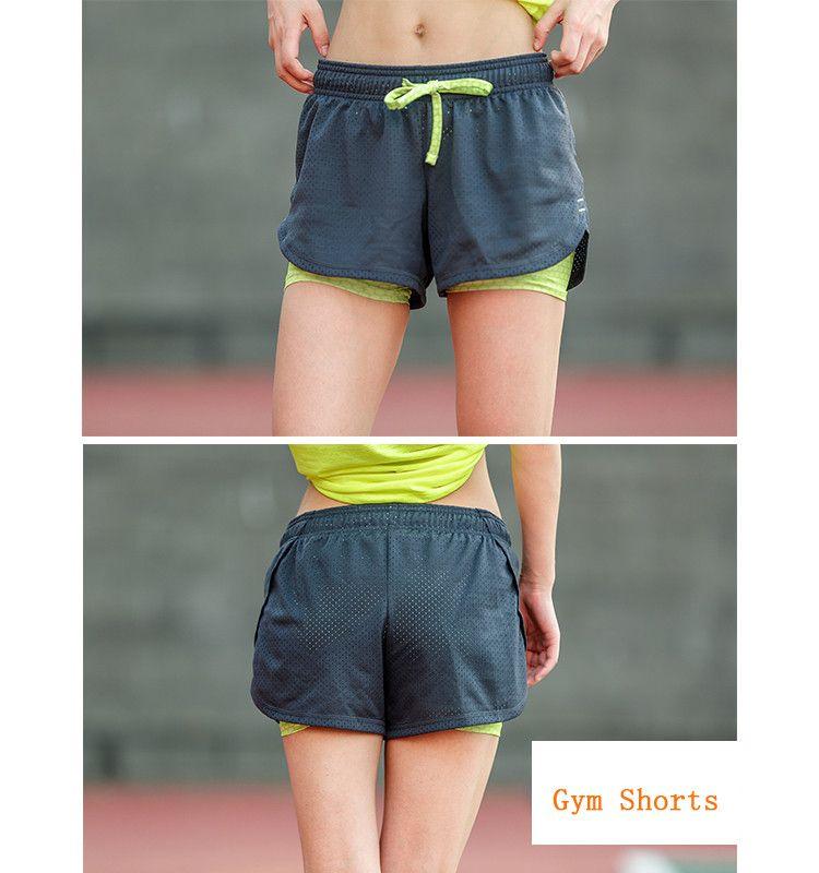 22.54 - Nice Womens Running Shorts 2 In 1 Running Tights Short Women s Gym  Cool Woman Sport Short Fitness Ladies Running Shorts Sportswear - Buy it  Now! 360fc8702d