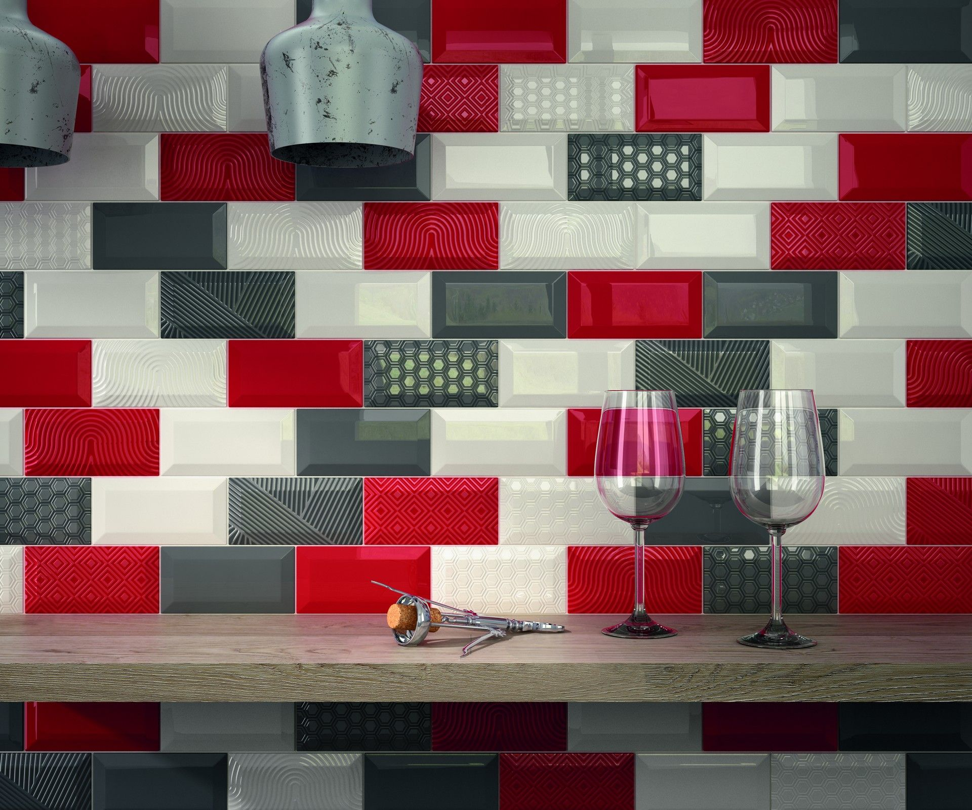 Our subline collection is a classic bevelled metro tile this old