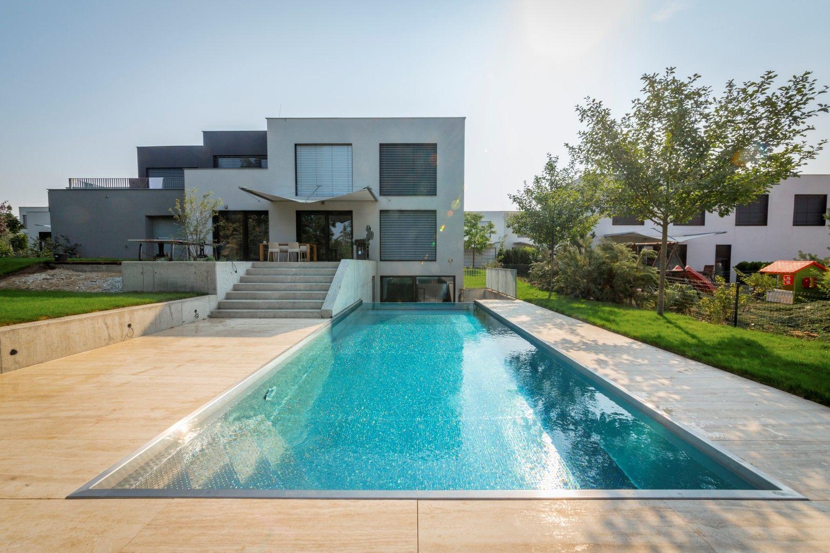 Piscine En Inox Steel And Style luxurious private stainelss steel swimming pool imaginox