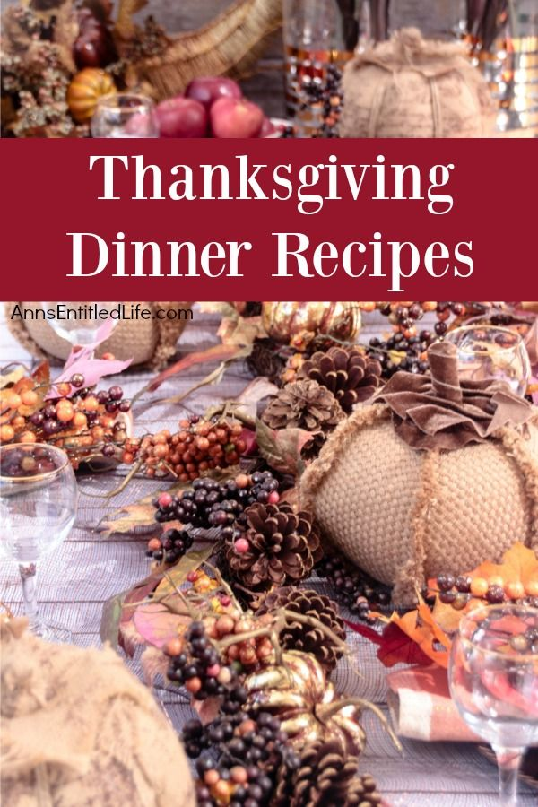 Thanksgiving Dinner Recipes A Long List Of Thanksgiving Day