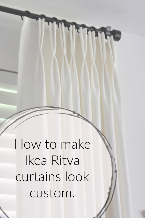 Ikea Hack How To Make Ready Made Ikea Ritva Curtains Look Like
