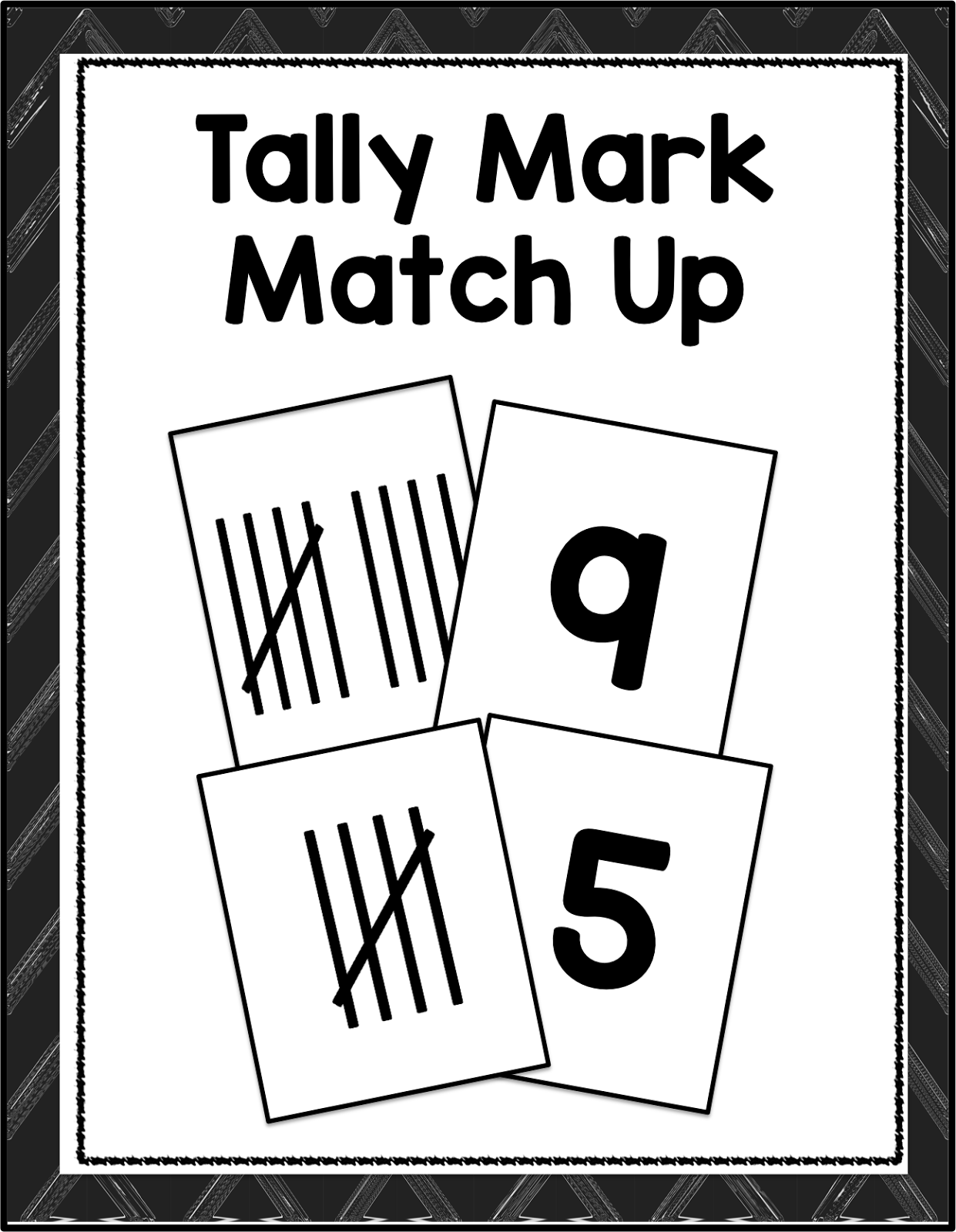 Free Tally Mark Practice Cards From Time4kindergarten