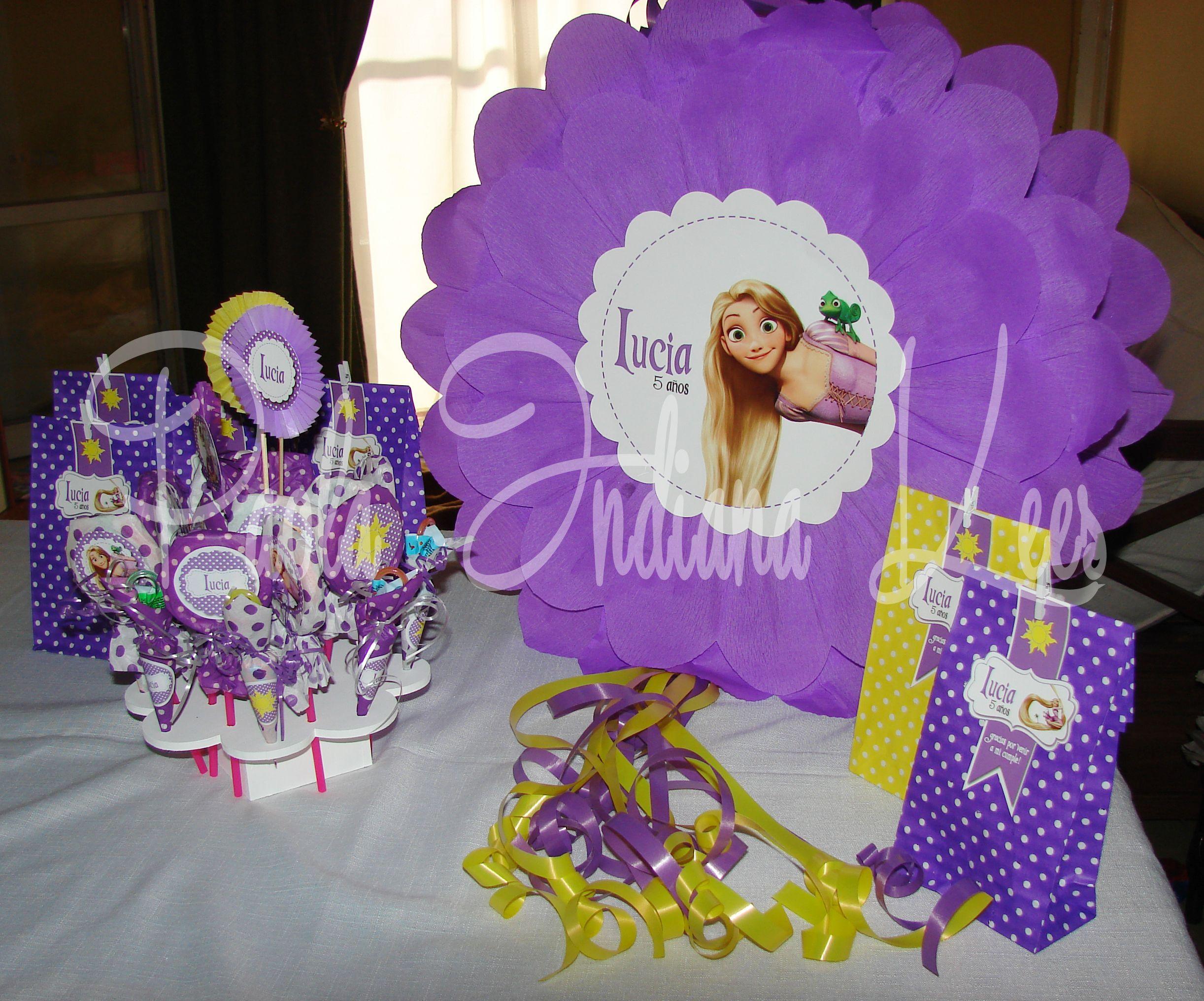 Decoracion Rapunzel Enredados ~ Cumple tem?tico #Rapunzel  Para mis ni?as  Pinterest