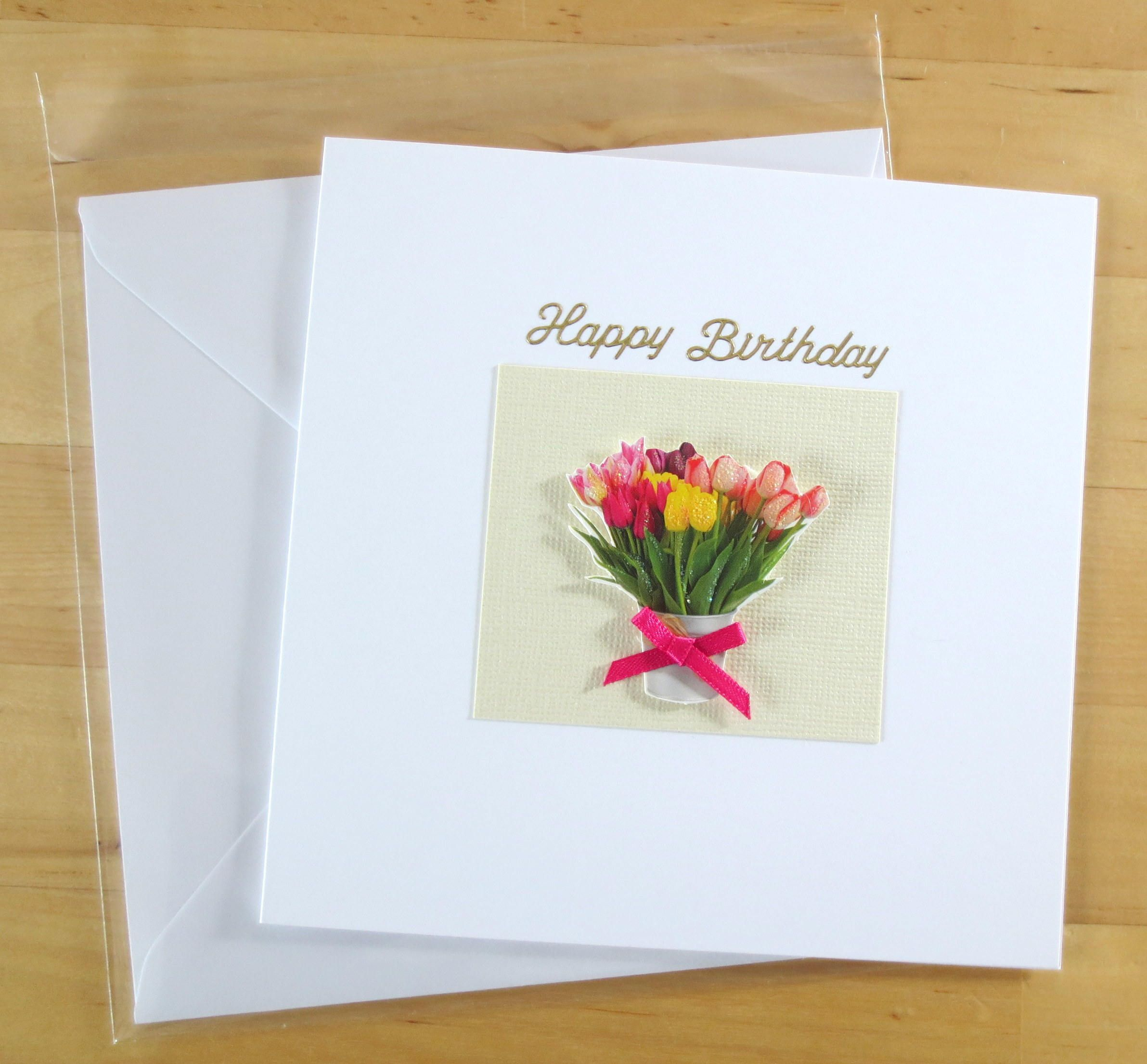 Handmade birthday card flower card thank you card get well card handmade birthday card flower card thank you card get well card with sympathy card flowers card greetings card handmade handmade card izmirmasajfo