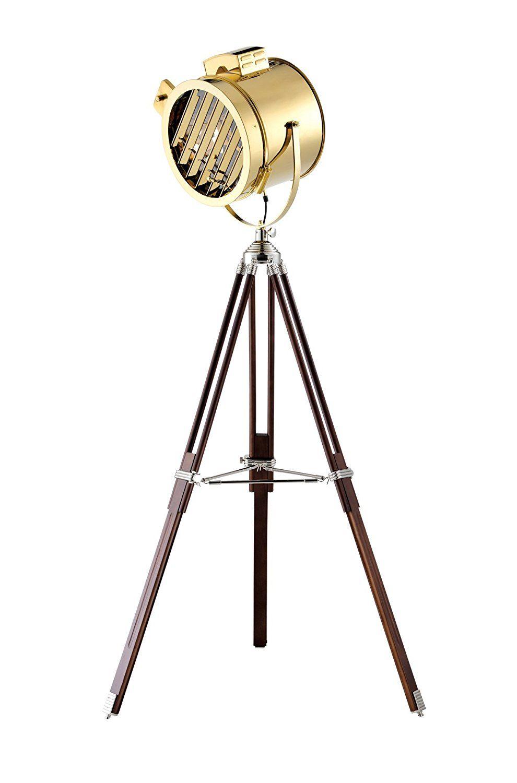 Elegante Stativ Lampe Dreibein Stehleuchte Mit Goldenem Schirm Tripod Floor Lamp Hohe 168 Cm Energieklasse A Bis C Amazon Bodenlampe Stativ Beleuchtung