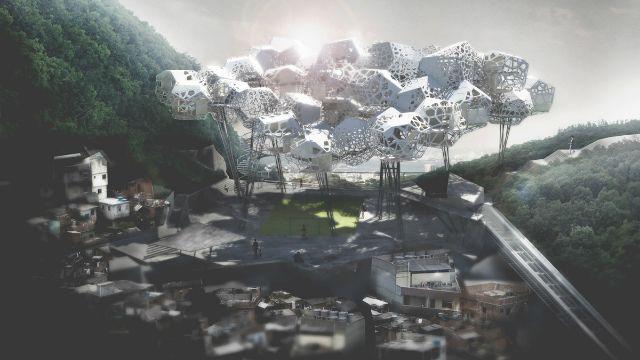 Favela Cloud: Um Curioso Projeto De Arquitetura No Morro Santa Marta O Blog | The Creators Project
