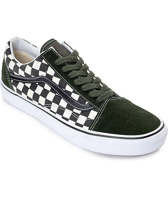 Part of Vans 50th Anniversary collection, the Old Skool Checkered Black  Rosin Skate Shoes brings