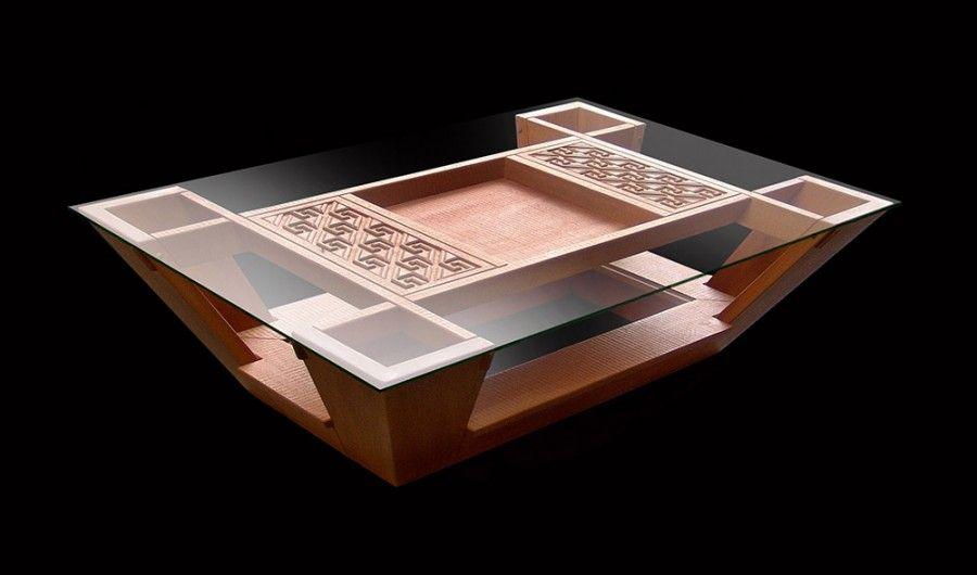 Mesitas en madera de lenga small tables in lenga wood - Mesas para ordenadores ...