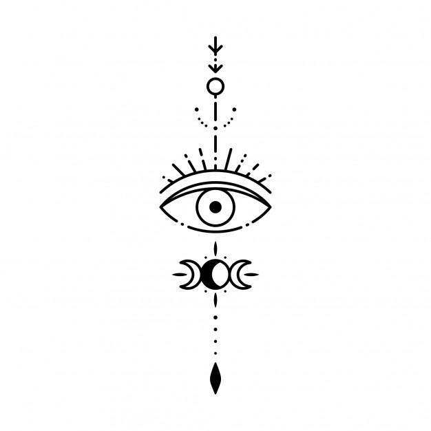 Geometric Tattoo Third Eye Tattoos Geometric Tattoo Evil Eye Tattoo