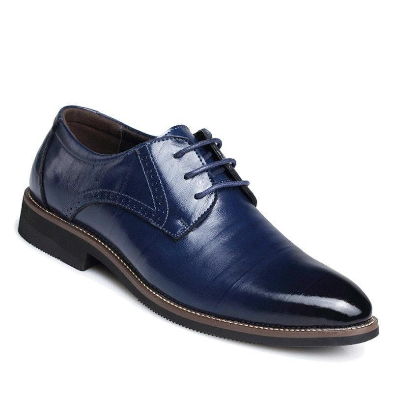 Mens Real Leather Italian Brogue Oxford Shoes Formal Wedding Casual Footwear New