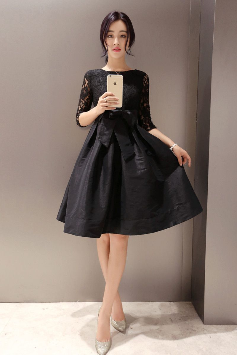 Black lace elegant dress Good style dresses Pinterest