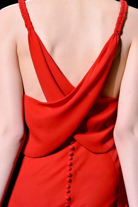 Beautiful subtle draping and plaiting on the back of this dress
