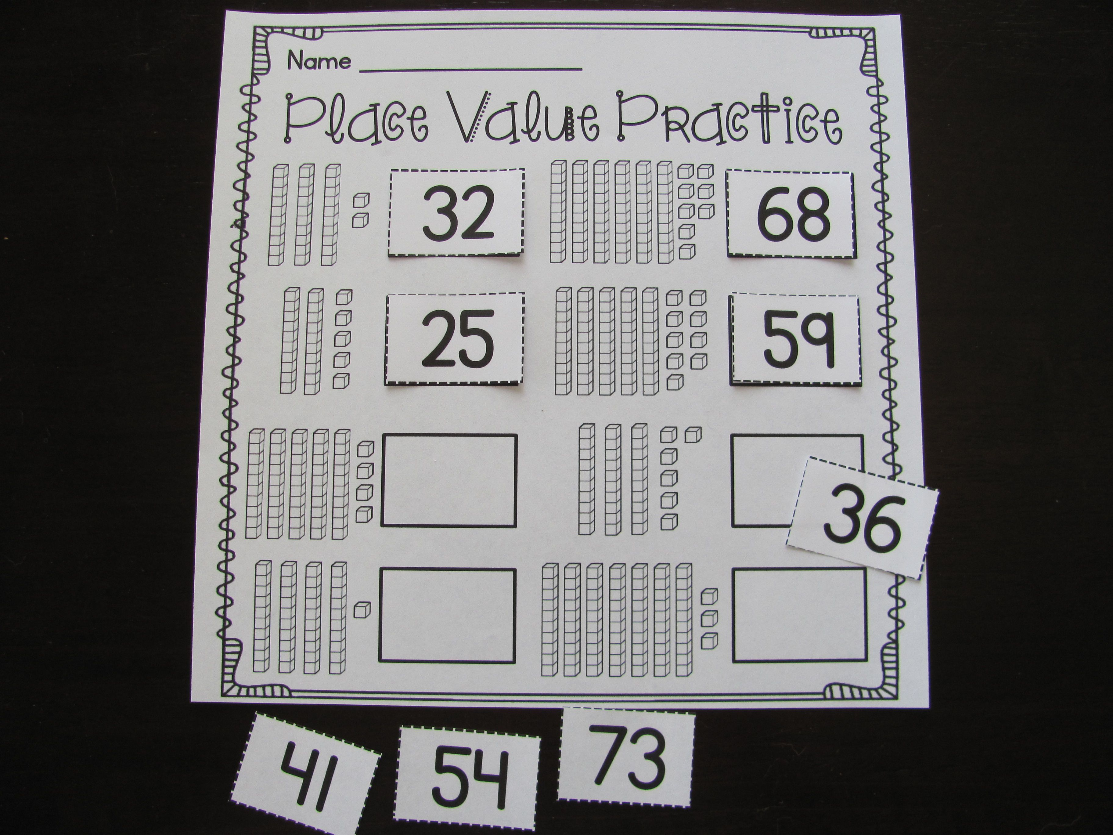 First Grade Math Unit 9 Place Value Worksheets Games And