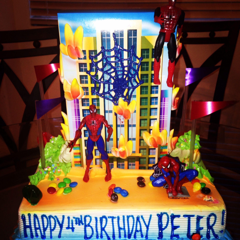 Spiderman Theme Cake From Goldilocks Bakeshop Spiderman Theme Superhero Cake Spiderman