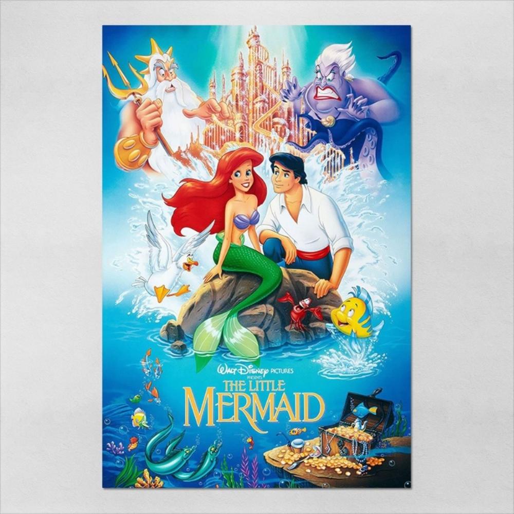 Poster 40x60cm Infantil A Pequena Sereia 1 R 47 95 Em Filmes De Sereia Posteres Da Disney Cartazes De Filmes Classicos