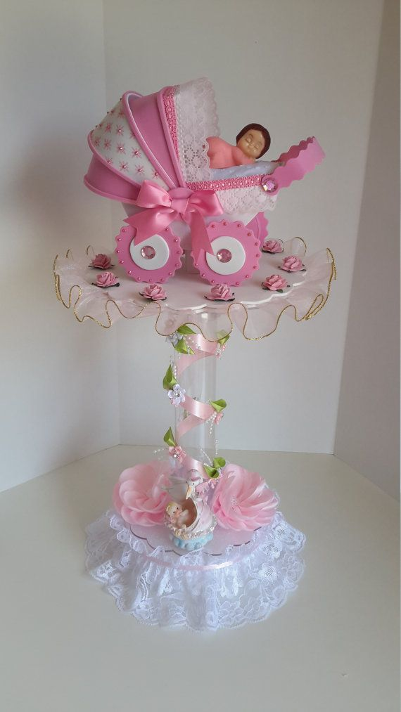 Pink centerpiece for baby shower babies babyshower and - Centros de mesa para baby shower ...