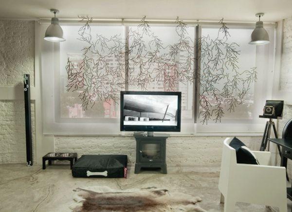 Rollos, Vorhänge, Gardinen Ideen Und Andere Dekorative Alternativen.  Kreieren Sie Eine Auffallende Und