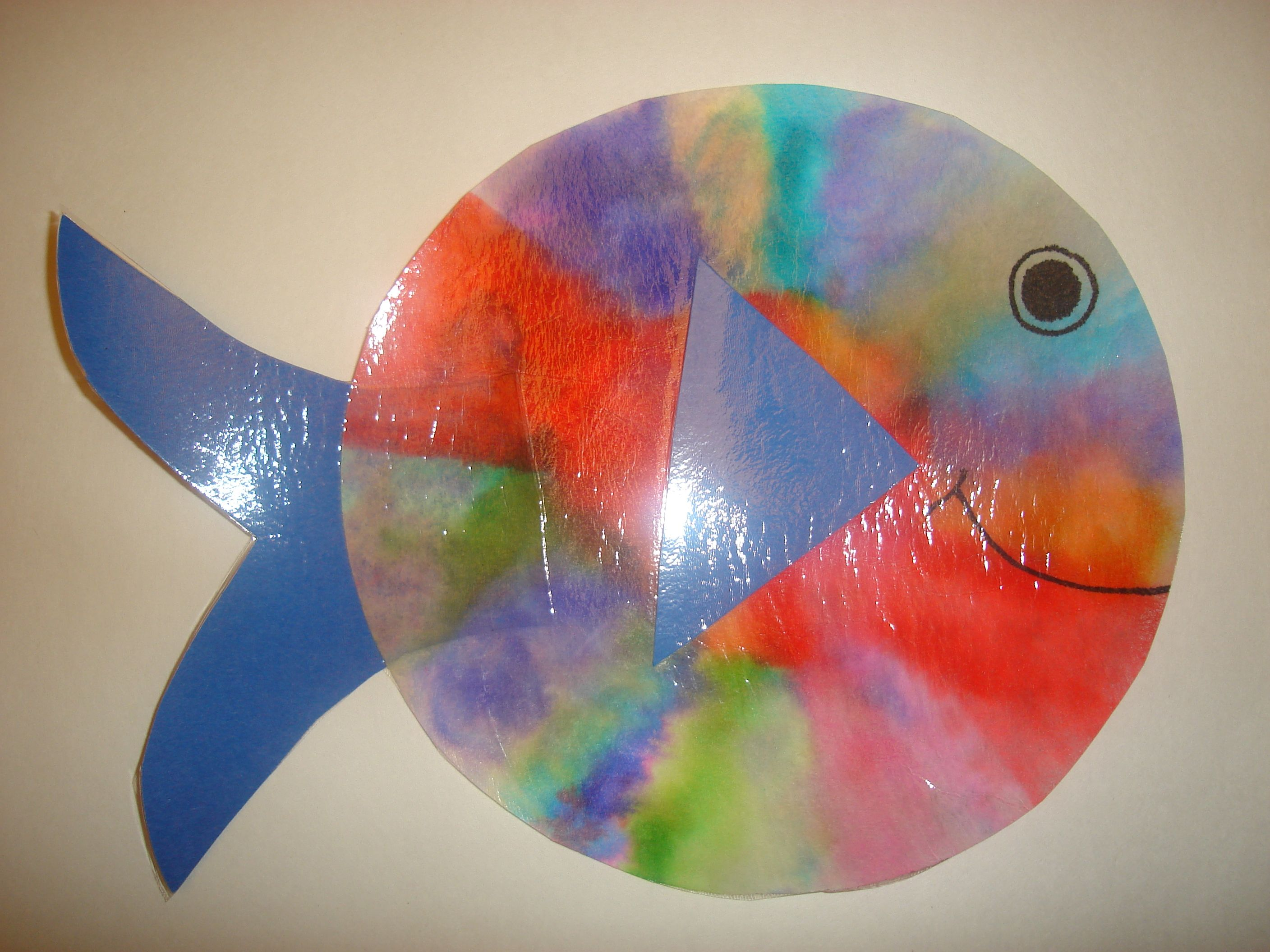 Coffee filter fish