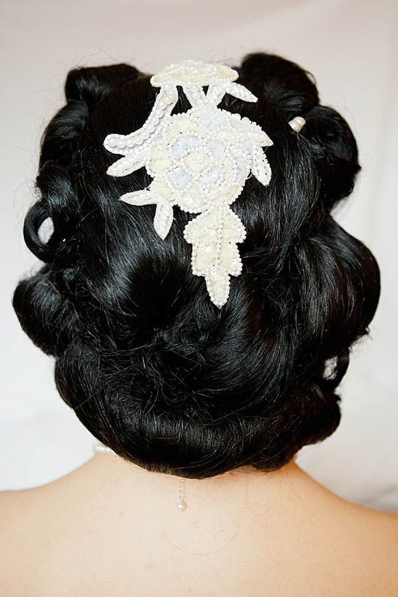 Vintage Lace Headpiece For This Water For Elephants Old World Circus Inspired Wedding In Newc Wedding Hair Accessories Wedding Hair And Makeup Hairdo Wedding