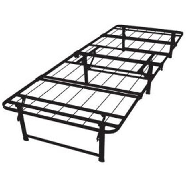 This Twin XL Size Steel Folding Metal Platform Bed Frame Is A Heavy Duty Wire Mesh Support Serves As Sturdy Squeak Free Mattress System