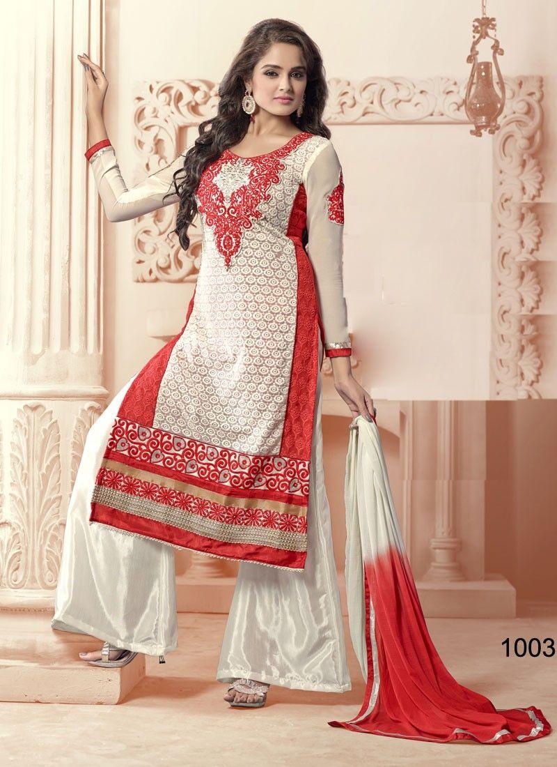 latest new designer white color salwar kameez